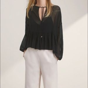 Wilfred perrot blouse sz medium black